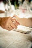 De handen van de baby Stock Foto