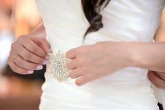 De handen van de bruid Royalty-vrije Stock Foto