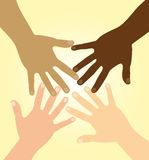 De handen van de diversiteit vector illustratie