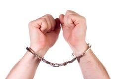 De handen van de gevangene Royalty-vrije Stock Foto's