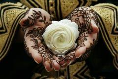 De handen van de henna Stock Foto's