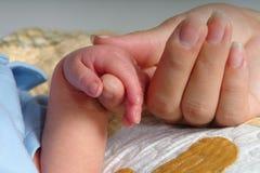 De Handen van de holding Stock Foto's