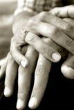 De Handen van de holding Royalty-vrije Stock Foto's