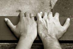 De Handen van de holding Royalty-vrije Stock Fotografie