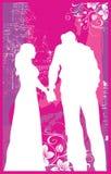 De Handen van de Holding van de vrouw & van de Man V1 vector illustratie