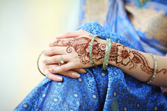 De handen van de Indische vrouw Stock Afbeelding