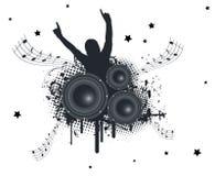De Handen van de muziek omhoog stock illustratie