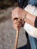 De handen van de oude vrouw Royalty-vrije Stock Afbeelding