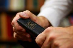 De Handen van de prediker Stock Foto