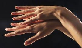 De handen van de vrouw Stock Foto