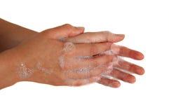 De Handen van de was Stock Afbeelding