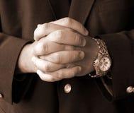 De handen van de zakenman Royalty-vrije Stock Afbeeldingen