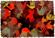 De handen van Grunge Stock Afbeelding