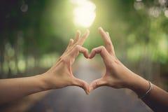 De handen van de hartvorm royalty-vrije stock afbeeldingen