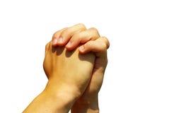 De handen van het gebed stock afbeeldingen