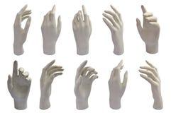 De handen van het gips Stock Foto