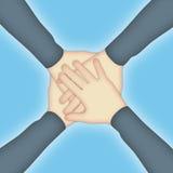 De Handen van het groepswerk Stock Illustratie