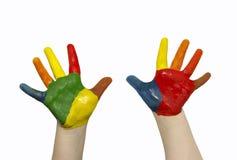 De handen van het kind Stock Afbeeldingen