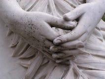 De Handen van het standbeeld Stock Afbeeldingen