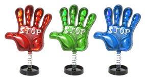 De Handen van het stuk speelgoed op Rollen Stock Foto's