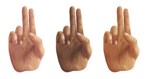De Handen van het Teken van de vrede - digitale illustratie Stock Afbeeldingen