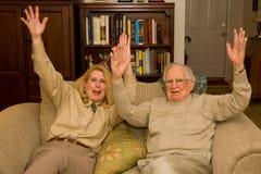 De handen van Hooray omhoog Royalty-vrije Stock Foto's