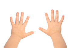 De handen van kinderen Stock Foto's