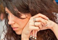 De handen van Manicured Stock Fotografie