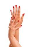 De Handen van Manicured Stock Afbeelding