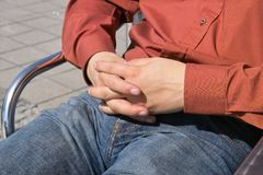 De handen van mensen Stock Foto