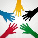 De Handen van Olympische Spelen Royalty-vrije Stock Foto's