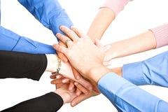 De Handen van teams Royalty-vrije Stock Afbeelding