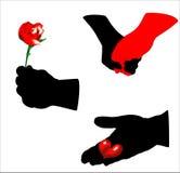 De handen van valentijnskaarten Royalty-vrije Stock Fotografie
