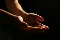 De handen van Worshiping royalty-vrije stock afbeelding