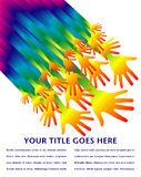 De handenontwerp van de regenboog. Stock Foto