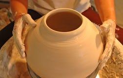 De handenreeks van de pottenbakker - 2 Stock Foto's