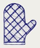 De handschoen van de keuken. De stijl van de krabbel Royalty-vrije Stock Afbeelding