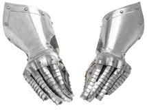 De handschoen van de twee metaalridder ` s stock foto