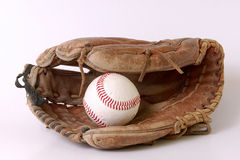 De handschoen van het honkbal Stock Afbeeldingen