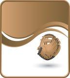 De handschoen van het honkbal op golfachtergrond Royalty-vrije Illustratie