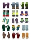 De handschoenen en de vuisthandschoenen van mensen Royalty-vrije Stock Afbeelding