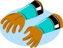 De handschoenen van de lijnwachter van de macht Stock Fotografie