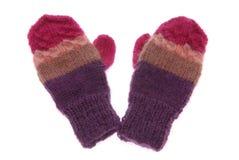 De handschoenen van de wol Stock Foto