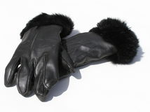 De handschoenen van het leer royalty-vrije stock afbeelding