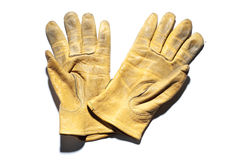 De handschoenen van het leer Royalty-vrije Stock Afbeeldingen