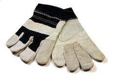 De Handschoenen van het Werk van het denim royalty-vrije stock foto's