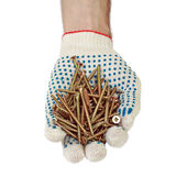 De handschoenen van schroeven Stock Foto's
