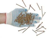 De handschoenen van schroeven Stock Afbeelding