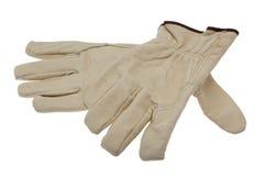 De handschoenenknipsels van het werk stock foto's