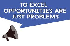 De handschrifttekst aan Excel-Kansen is enkel Problemen Concept die de Vrees van de Comfortstreek de betekenen buitenwereld vector illustratie